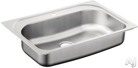 Moen 1800 G181631C 33 Inch Drop In Sink with 7 Inch Bowl Depth 18 Gauge Stainless Steel and SoundSHIELD