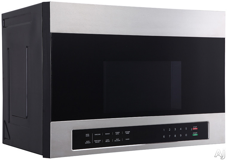 Image of Avanti MOTR13D3S 1.3 cu. ft. Over-the-Range Microwave with Automatic Cook Functions, 10 Microwave Power Levels, Stainless Steel Finish, Surface Light, Kitchen Timer, Selectable Vent Speed, Child Safety Lock, Rotating Turntable and 1000 Watts