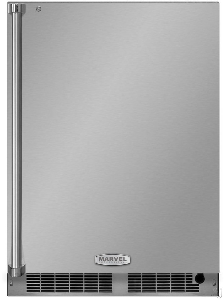 Marvel Professional Series MP24RA 24 Inch Built-In All Refrigerator with Smooth Glide Shelving, Tall Item Storage, Tri-Color Interior Lighting, Marvel Intuit™ Touch Controls, Close Door Assist System, ENERGY STAR® and 5.1 cu. ft. Capacity