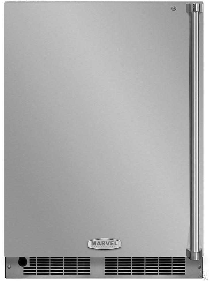 Marvel Professional Series MP24RAP4LP 24 Inch Built-In All Refrigerator with Smooth Glide Shelving, Tall Item Storage, Tri-Color Interior Lighting, Marvel Intuit™ Touch Controls, Close Door Assist System, ENERGY STAR® and 5.1 cu. ft. Capacity: Panel Ready Door, Left Hinge