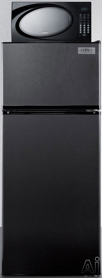 Summit MRF1119B 24 Inch Top Freezer Refrigerator with 10.3 cu. ft. Capacity, 800W Microwave Oven, Adjustable Wire Shelving, Large Crisper, 4 Door Bins, ENERGY STAR and 10A Power Allocator Box: Black
