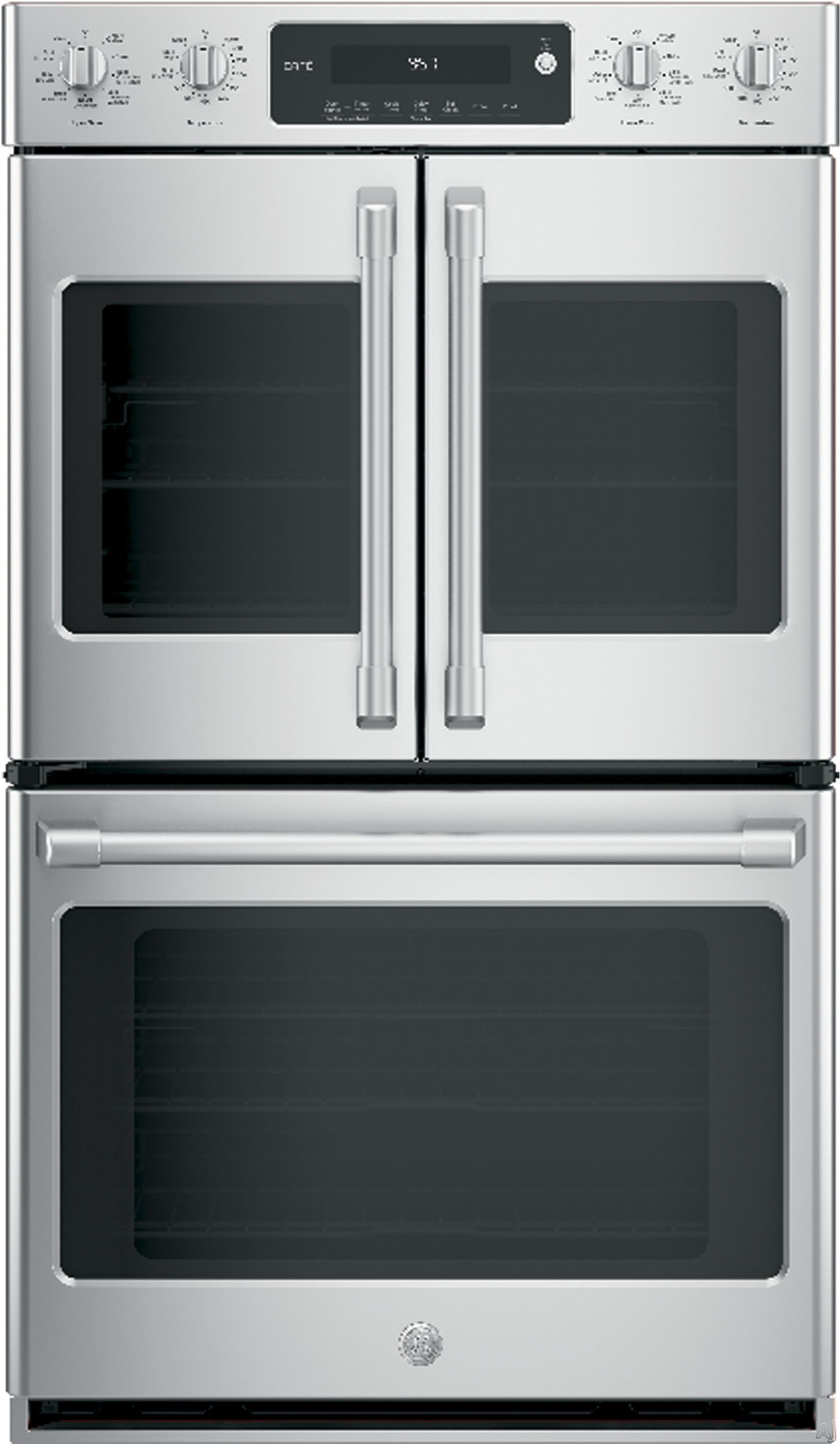 "GE Cafe Series 30"" Stainless Steel Built-In Double Convection Wall Oven"