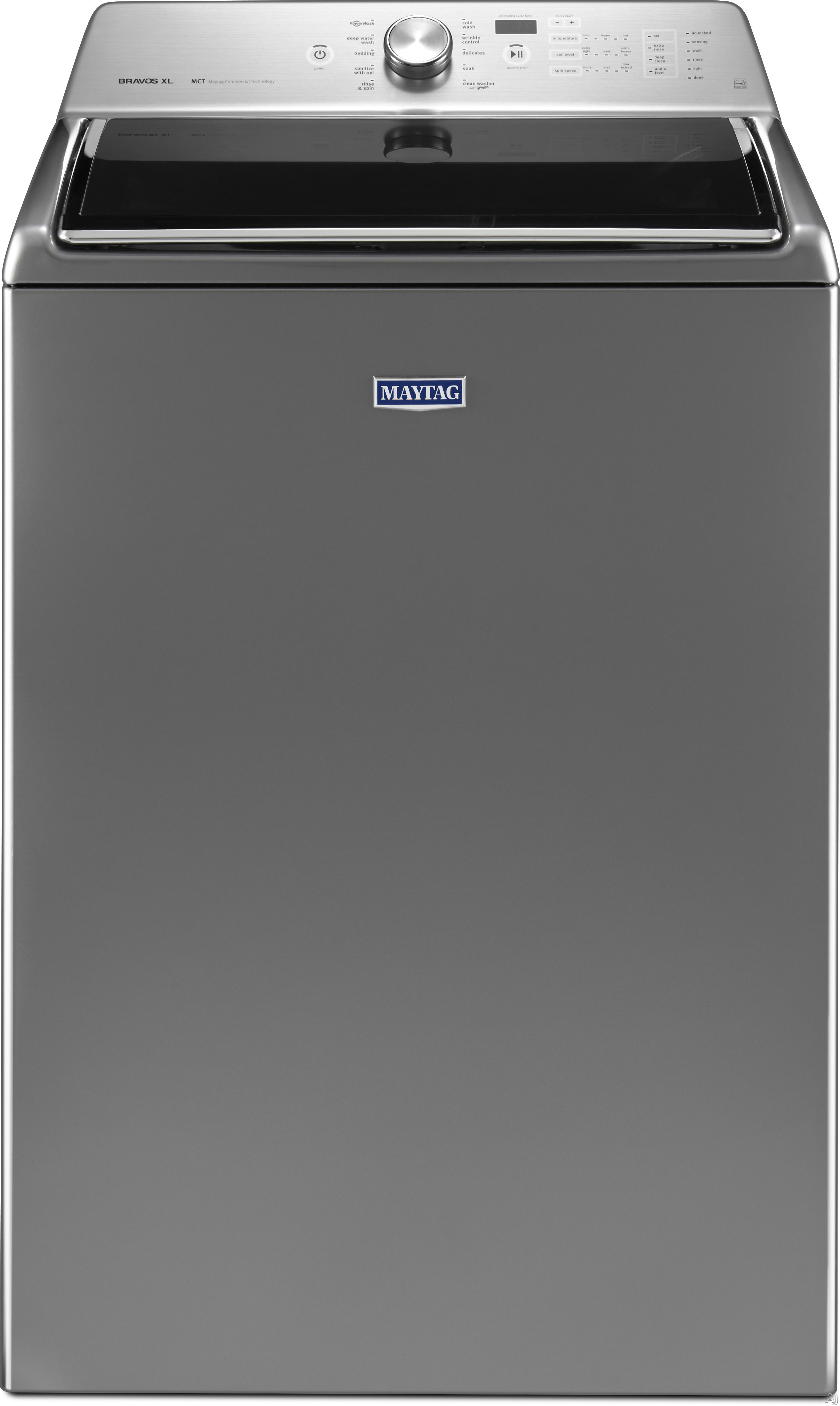Maytag MVWB835D 28 Inch Top Load Washer with PowerWash Cycle, Deep Clean Option, Sanitize with Oxi, 11 Wash Cycles, 850 RPM, Optimal Dispensers, Power Impeller, Clean Washer Cycle with Affresh, ENERGY STAR and 5.3 cu. ft. Capacity