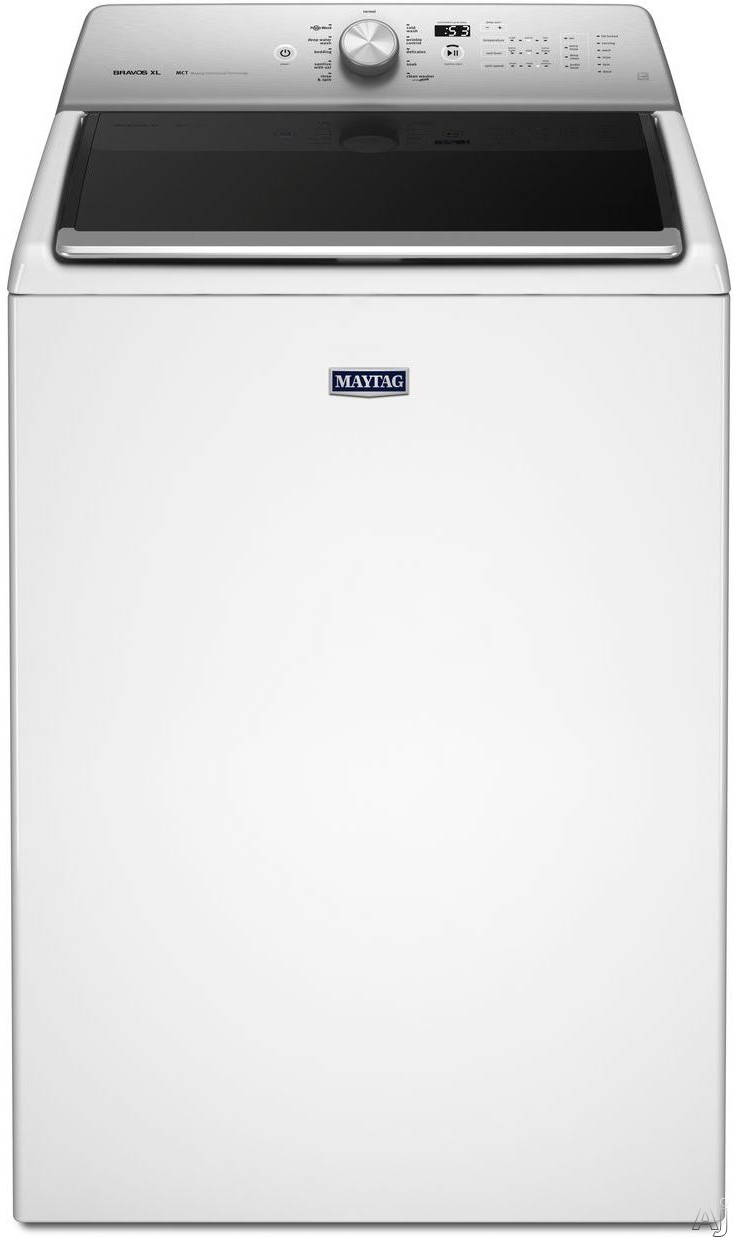Maytag Heritage Series MVWB835DW 28 Inch 5.3 cu. ft. Top Load Washer with 11 Wash Cycles, 850 RPM, PowerWash Cycle5, Deep Clean Option, Sanitize with Oxi, Optimal Dispensers, Power Impeller, Clean Washer Cycle with Affresh and ENERGY STAR Qualification