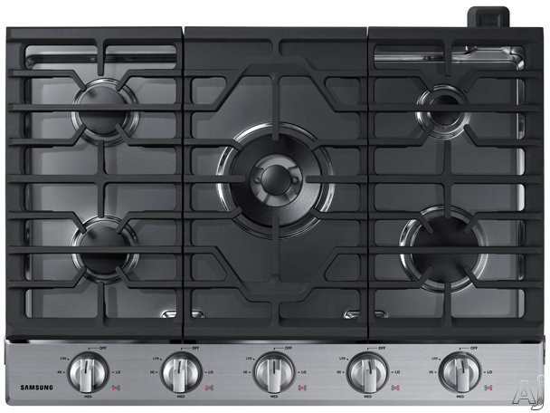 "Samsung NA30N6555TS 30 Inch Gas Cooktop with 19K Power Burner, Sealed Burners, Griddle, LED Illuminated Backlit Knobs, Ready2Fitâ""¢ Guarantee, Wi-Fi Connectivity and ADA Compliant: Stainless Steel"