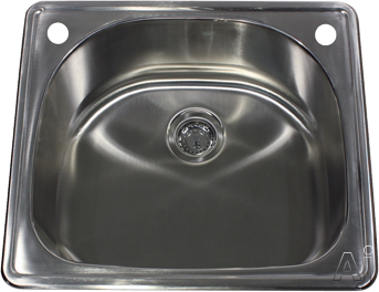 Nantucket Sinks NS2522D 25 Inch Drop-In Kitchen Sink with 9 Inch Bowl Depth, 304 18-Gauge Stainless Steel, Brushed Satin Finish, Single Handle Faucet and Accessory Hole and Condensation Reducing Insul