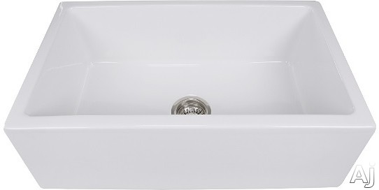 Nantucket Sinks Cape Collection HYANNIS30 30 Inch Farmhouse Apron Sink with 9 Inch Bowl Depth and Premium Italian Fireclay Construction