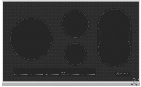 "Hestan KIC36BK 36 Inch Induction Cooktop with Versatile Bridge Element, Slide Touch Controls, Marquise Accentedâ""¢ Glass, Stainless Steel Frame, Warming Function, 2 Timers, Low Simmer and Automati"