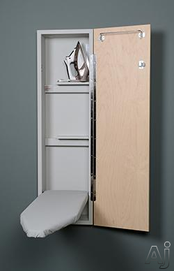 Iron-A-Way NE42 42 Inch Ironing Center with Ventilated Board, Iron Storage, Storage Shelves and Hanger Bar