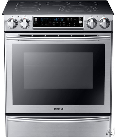 "Samsung 30"" Flex-Duo Convection Slide-in Double Oven Electric Range 