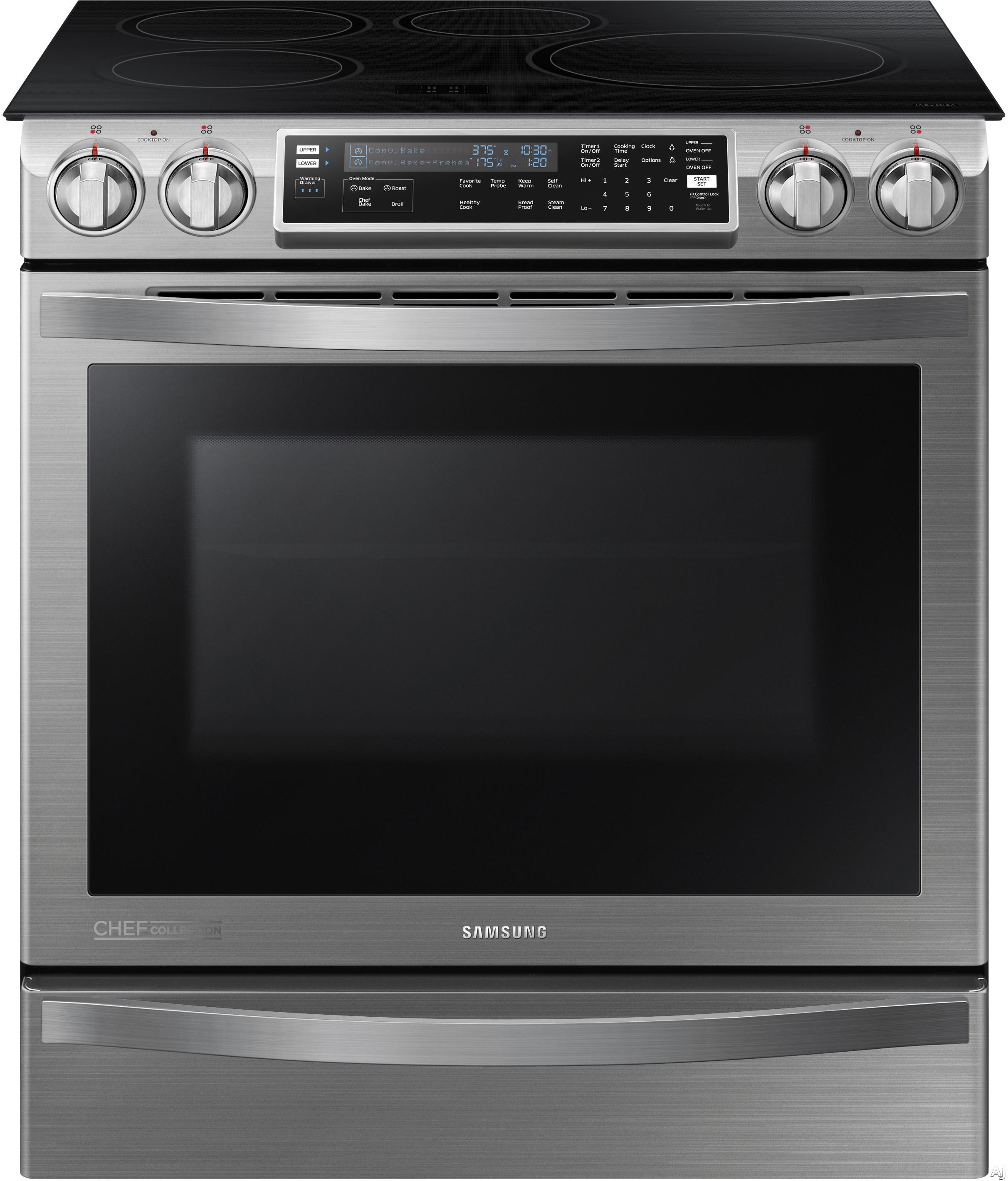 Samsung ne58h9970ws 30 slide in induction range with 4 Samsung induction range