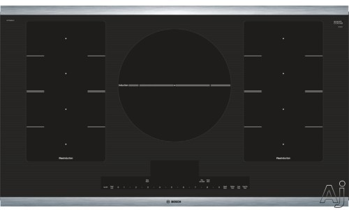 Bosch Benchmark Series NITP668SUC 36 Inch Induction Cooktop with FlexInduction, PowerMove, SpeedBoost, Dual-Ring Element, 5 Heating Elements, PotSense, PreciseSelect, ChildLock, Keep Warm and SafeStar