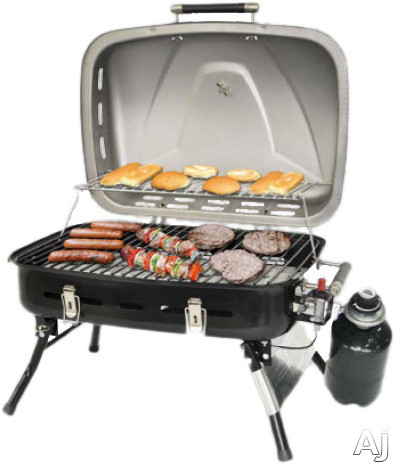 Blue Rhino UniFlame Series NPG2302SS 26 Inch Portable LP Gas Grill with Porcelain Cooking Grid, 10,000 BTU Burner, Push Button Ignition, 265 sq. in. Cooking Surface, 120 sq. in. Warming Surface and Fi