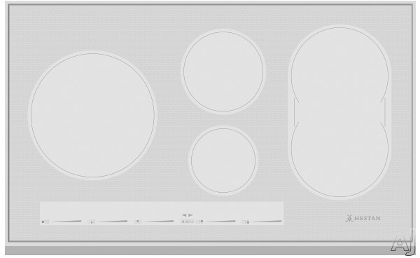 "Hestan KIC36 36 Inch Induction Cooktop with Versatile Bridge Element, Slide Touch Controls, Marquise Accentedâ""¢ Glass, Stainless Steel Frame, Warming Function, 2 Timers, Low Simmer and Automatic"