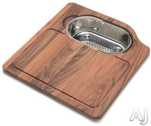 Franke Orca Series OC45SP Solid Wood Cutting Board with Stainless Colander