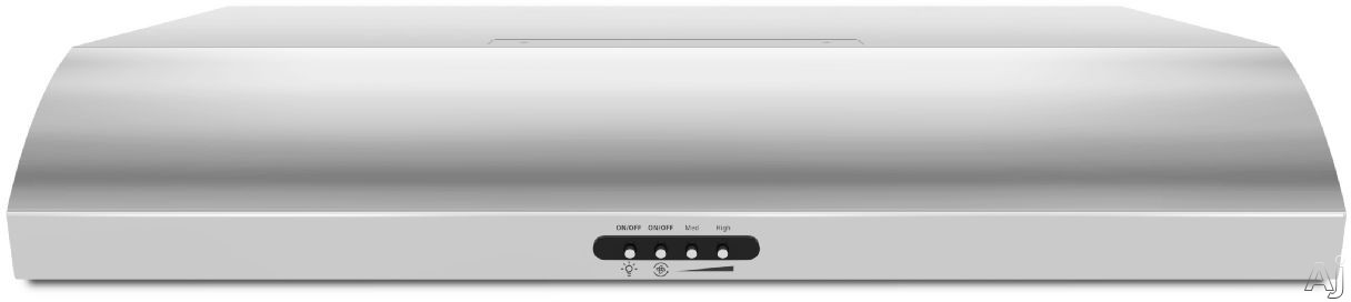 Maytag UXT5230BDS 30 Inch Under-Cabinet Range Hood with 350 CFM Internal Blower, 3 Fan Speeds, 7 Scones, Hidden Vent, FIT System and Convertible to Recirculating Operation: Stainless Steel