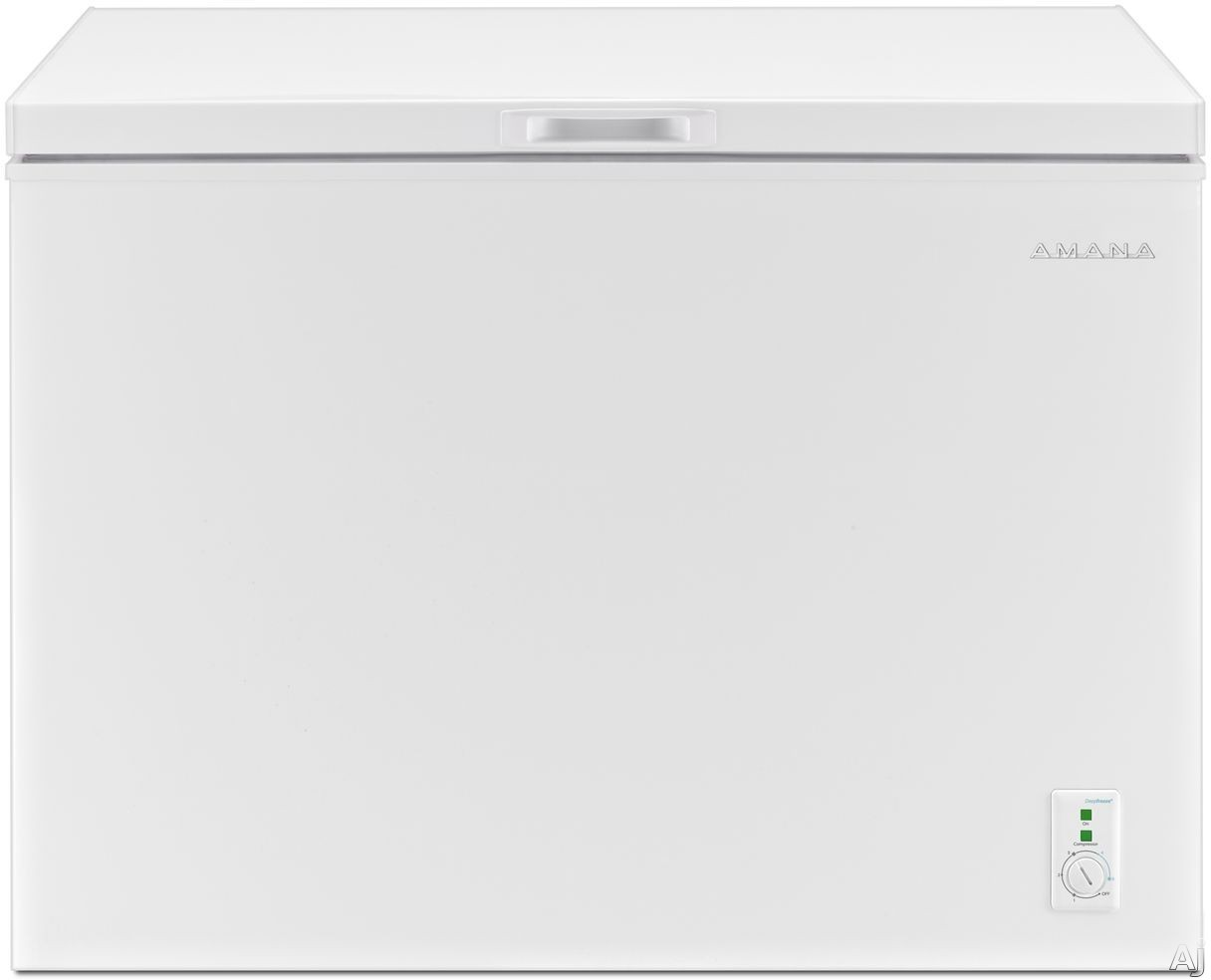 Amana AQC0902GRW 44 Inch Chest Freezer with DeepFreeze, Flexible Installation, 9 cu. ft. Capacity, 2 Baskets and Top Door Swing AQC0902GRW