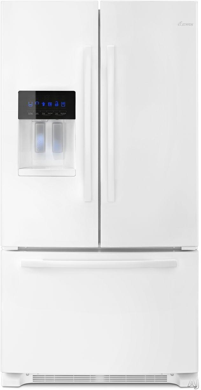 "Amana AFI2539ERW 36 Inch French Door Refrigerator with TempAssureâ""¢ Temperature Management, Garden Freshâ""¢ Crispers, SpillSaverâ""¢ Glass Shelves, Exterior Dispenser, Full-Width Pantry Drawer, Freezer Drawer, Adaptive Defrost, Gallon Door Bins and ADA Co"