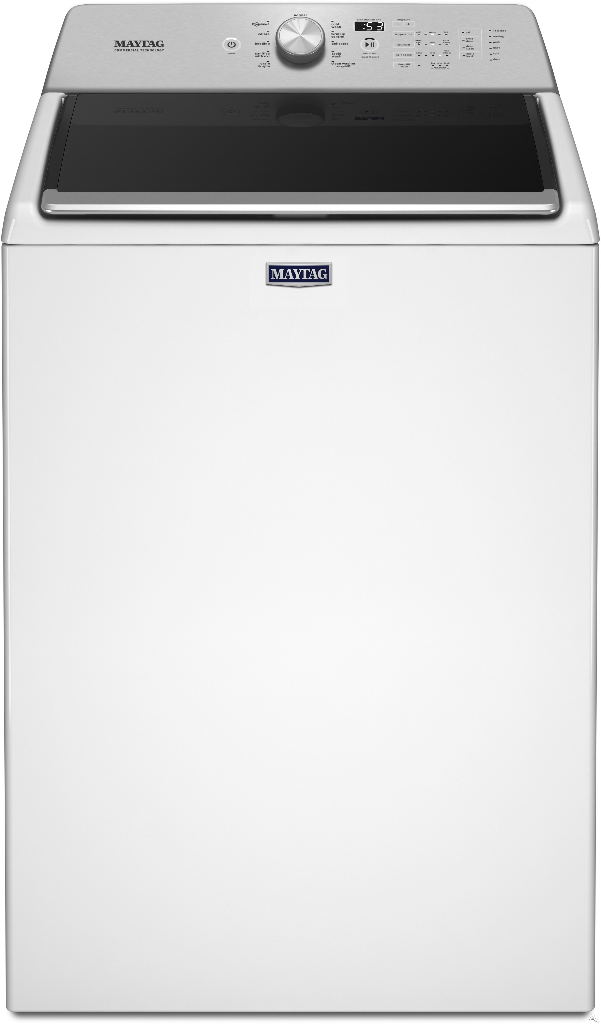 Maytag MVWB766FW 28 Inch Top Load Washer with 4.7 cu. ft. Capacity, 11 Wash Cycles, PowerWash Cycle, Sanitize with Oxi Cycle, Wrinkle Control, Deep Fill Option and Auto Sensing Option MVWB766FW