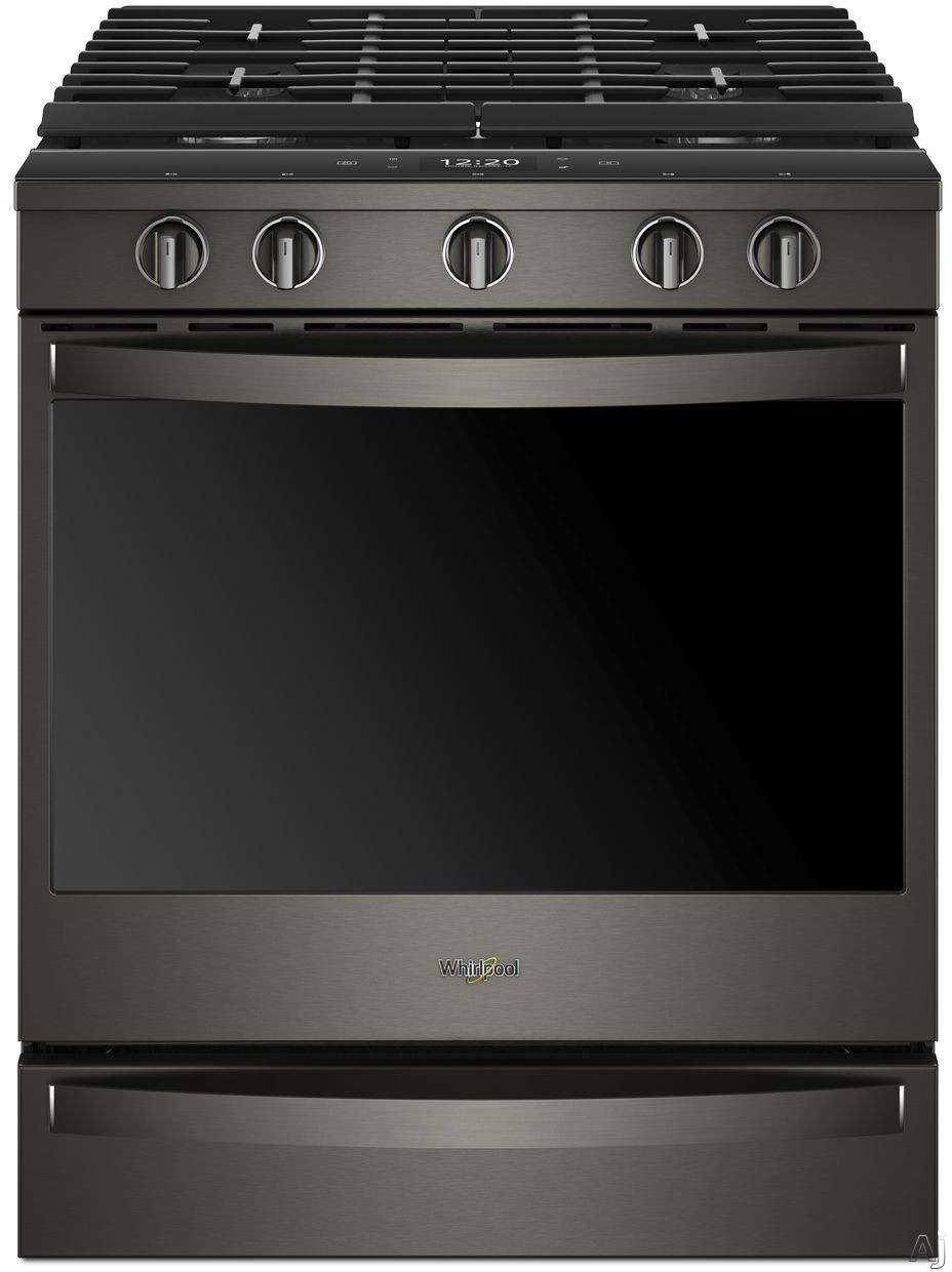 Whirlpool WEG750H0H 30 Inch Slide-In Gas Range with True Convection, Scan-to-Cook, Touchscreen, Voice Control, Frozen Bake™, Party Mode, Griddle, Rapid Preheat, SpeedHeat™, FlexHeat™, AquaLift®, EZ-2-Lift™ Grates, 5 Sealed Burners, 5.8 cu. ft. Ca