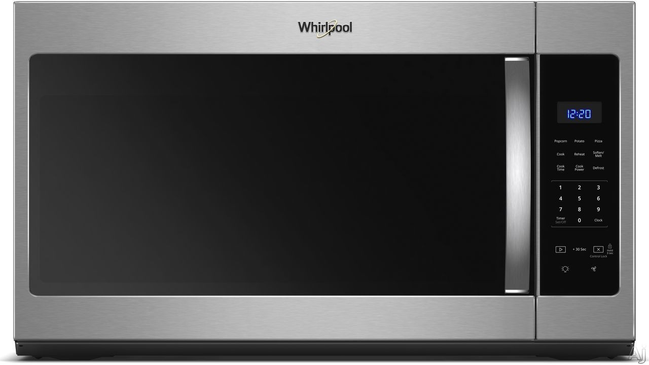 Whirlpool WMH31017HS 1.7 cu. ft. Over-the-Range Microwave with Microwave Presets, Adjustable Lighting, Dishwasher-Safe Turntable, Add 30 Seconds, 300 CFM and 1,000 Watts: Stainless Steel