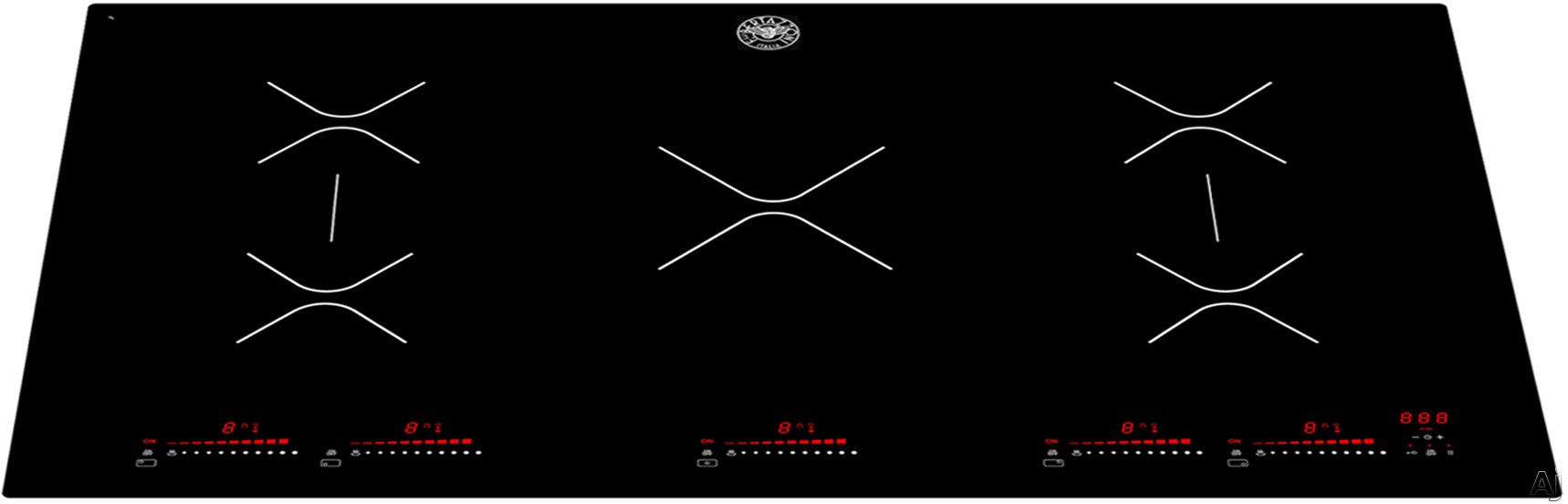 Bertazzoni Professional Series P365IAE 36 Inch Induction Cooktop with Booster Function, Touch Controls, Two Bridge Cooking Zones, Residual Heat Indicators and Ceramic Glass Surface