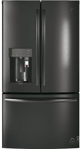 GE Profile PFE28PBLTS 36 Inch French Door Refrigerator with Keurig® K-Cup®, WiFi Connect, Hot Water Dispenser, TwinChill™, Temperature Controlled Drawer, Quick Space Shelf, Drop Down Tray,