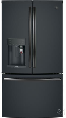 GE Profile PFE28PELDS 36 Inch French Door Refrigerator with Keurig® K-Cup®, WiFi Connect, Hot Water Dispenser, TwinChill™, Temperature Controlled Drawer, Quick Space Shelf, Drop Down Tray,