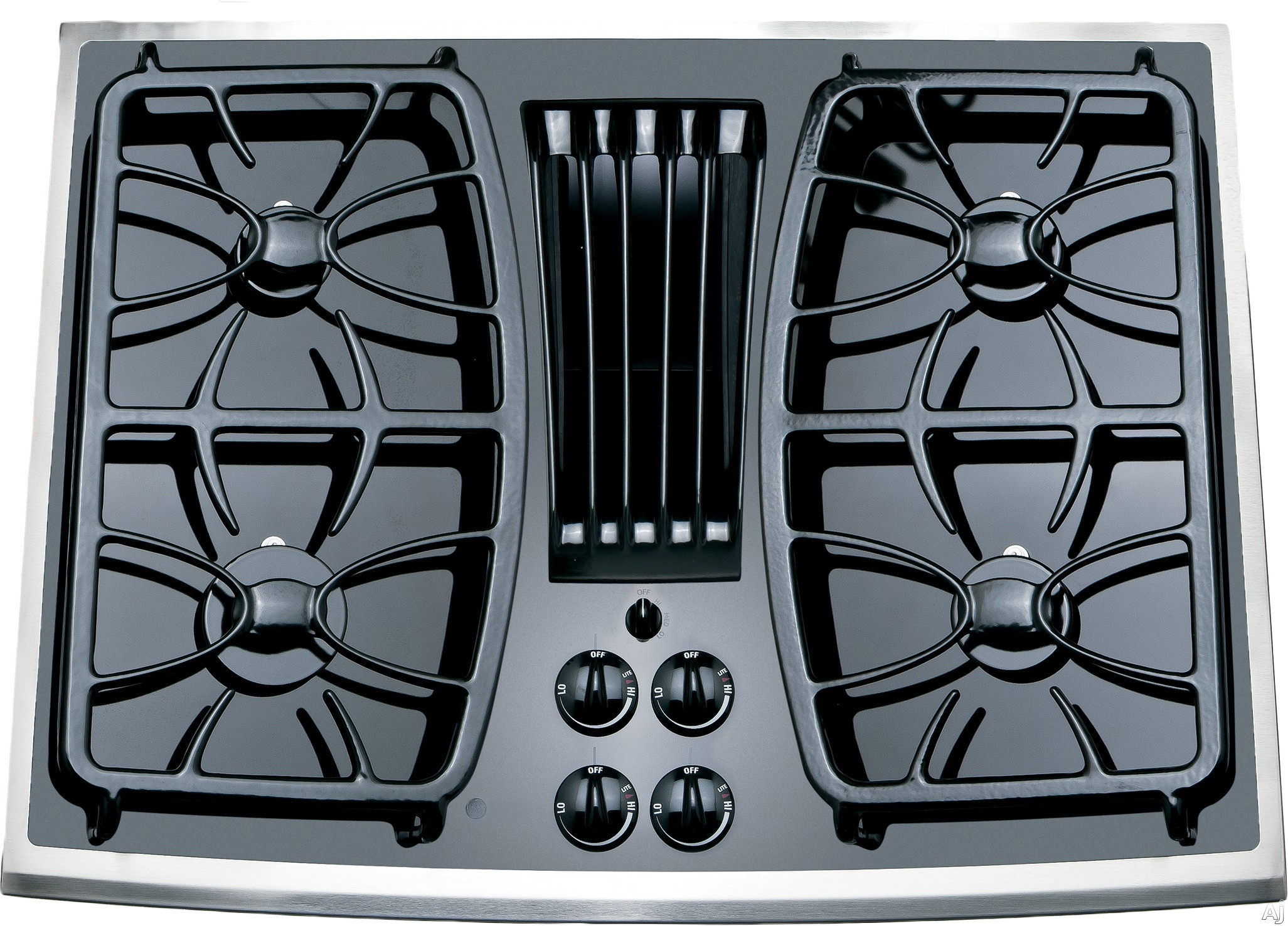 Ge Pgp989snss 30 Inch Gas Downdraft Cooktop With 330 Cfm