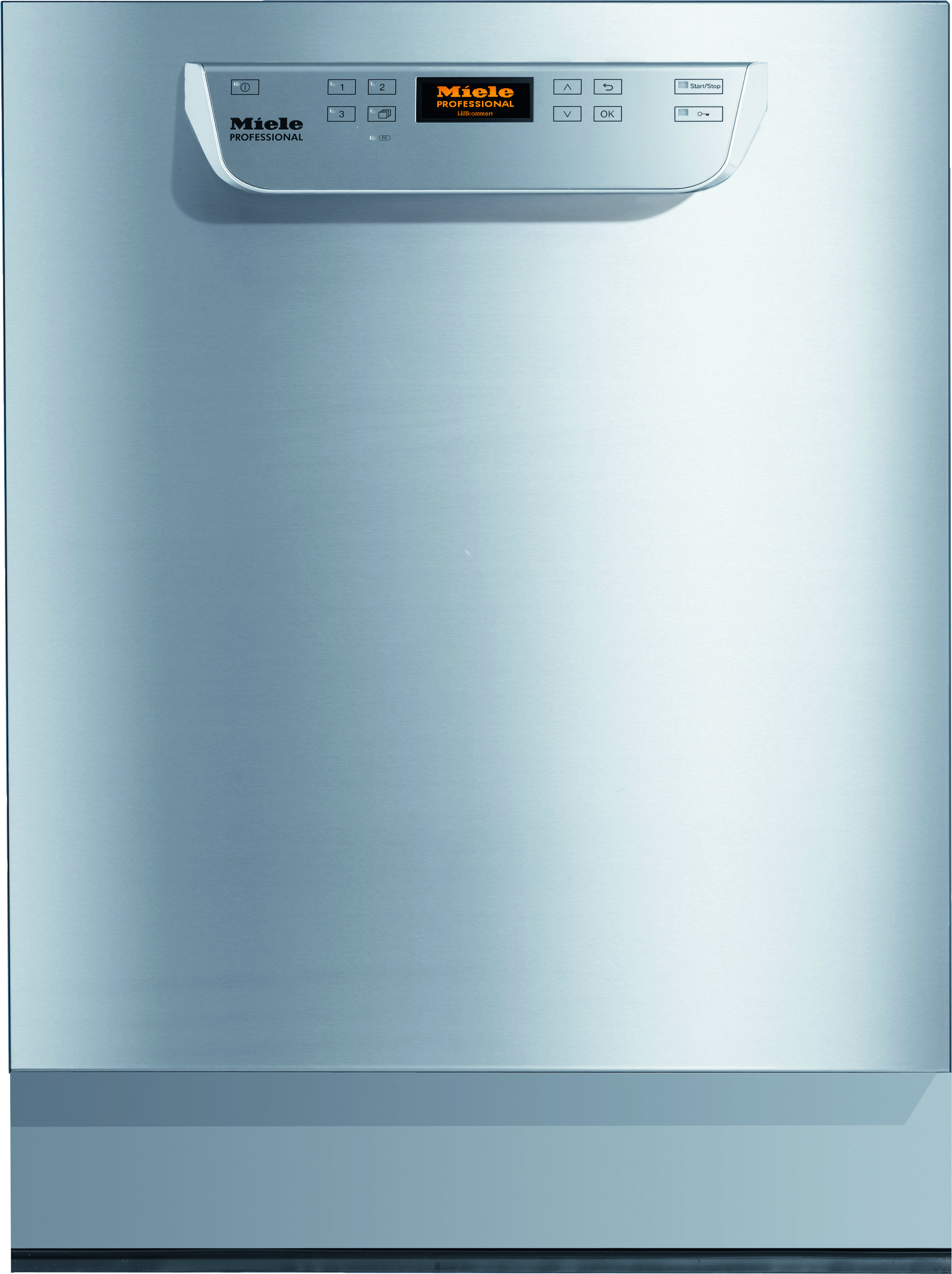 Miele Professional PG8061 Full Console Dishwasher with 3 Cycles, 3 Sanitization Programs, Detergent Dispenser, Rinse Aid, Spray-Jet Steam Condenser and 57 dBA Sound Rating