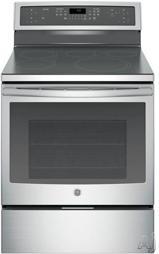 GE Profile PHB920SJSS 30 Inch Freestanding Induction Range with 5 Cooktop Zones, 5.3 cu. ft. True European Precise Air Convection Oven, Synchronized Bridge Element, Low-Heat Warming Zone, Storage Drawer, Self-Cleaning Oven Racks and Self-Clean Mode
