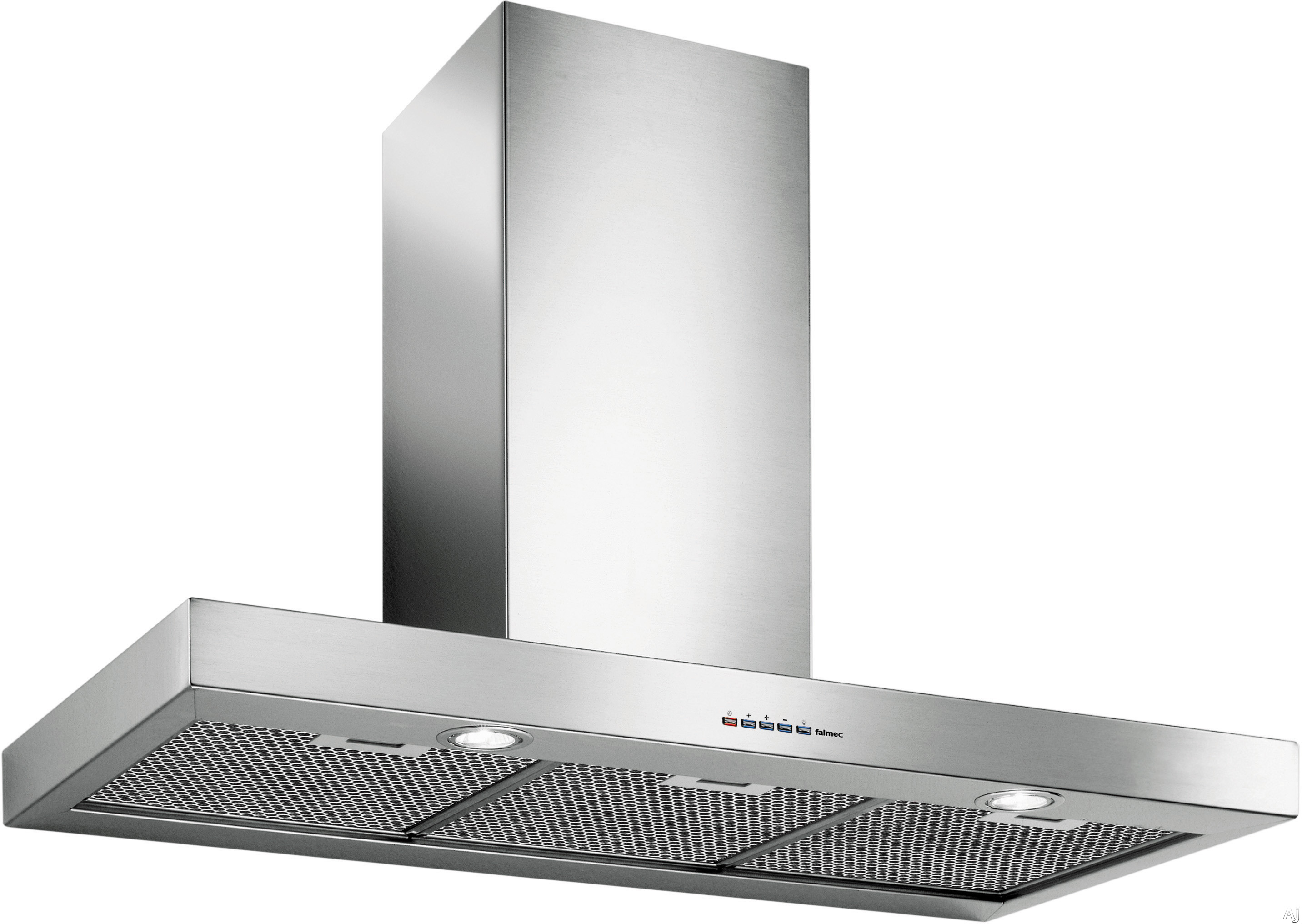 Futuro Futuro Positano Series WL48POSITANO 48 Inch Wall Mount Range Hood with 940 CFM Internal Blower, 4 Speed Electronic Controls, 2 Halogen Lights and Dishwasher Safe Filters: Stainless Steel: 48 Inch Width
