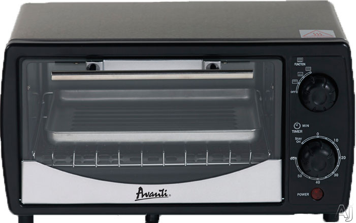 Picture of Avanti PO3A1B 0.3 cu. ft. Countertop Toaster with 3 Cooking Modes, Automatic Shut-Off, 15-Minute Timer, Bell Alert and Cooking Pan