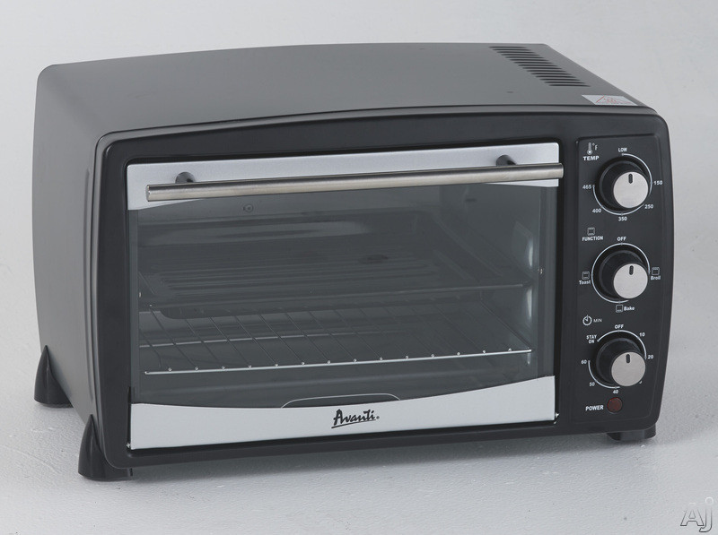 Avanti Po81ba 0.8 Cu. Ft. Countertop Oven/broiler With Automatic Shut-off, 60-minute Timer Control With Bell, Bake/broil/toast Option, Baking/broiling Pan, Slide-out Rack And Crumb Tray
