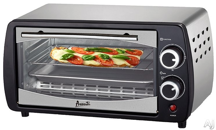 Avanti Pow31b 0.3 Cu. Ft. Countertop Oven With Adjustable Function Control, Auto Shut-off And Slide-out Rack