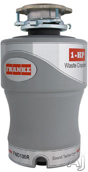 Franke FWD100R 1 HP Continuous Feed Waste Disposer with 2800 RPM Magnet Motor Jam Resistant Energy Efficient and Lifetime Warranty