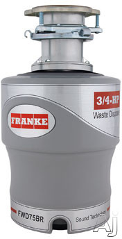 Franke FWD75BR 3 4 HP Batch Feed Waste Disposer with 2700 RPM Magnet Motor Jam Resistant 10 Year Warranty and Energy Efficient