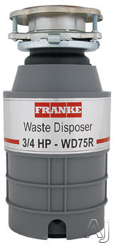 Franke WD75RX 3/4 HP Continuous Feed Waste Disposer with 2700 RPM Magnet Motor, Jam Resistant and 5 Year Warranty