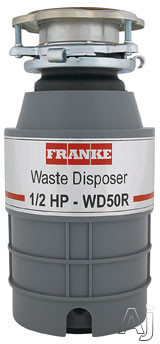 Franke WD50RX 1/2 HP Continuous Feed Waste Disposer with 2600 RPM Magnet Motor, Jam Resistant and 5 Year Warranty