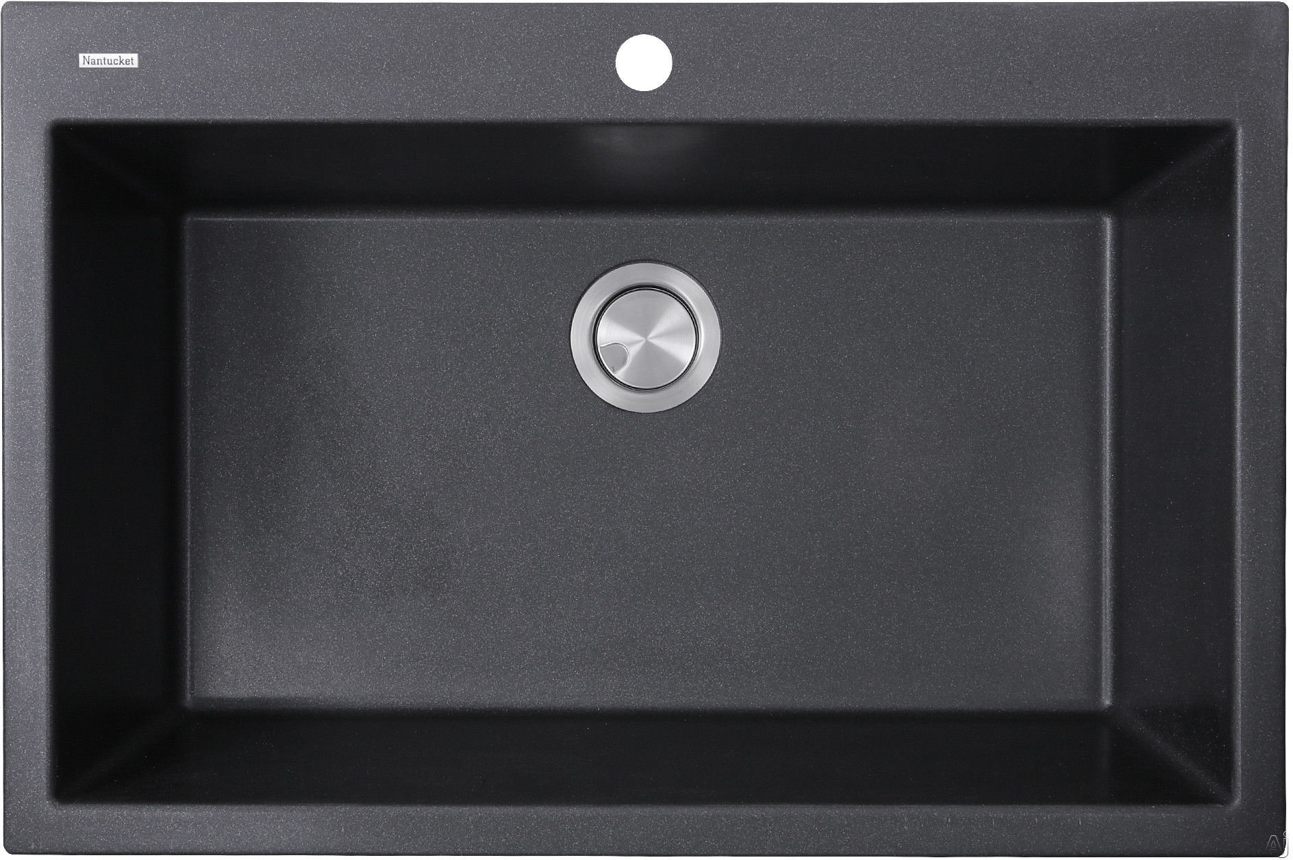 Nantucket Sinks Plymouth Collection PR3322DMBL 33 Inch Dual Mount Granite Composite Kitchen Sink with Dual Mount Design, Heat Resistant and Scratch Resistant: Matte Black