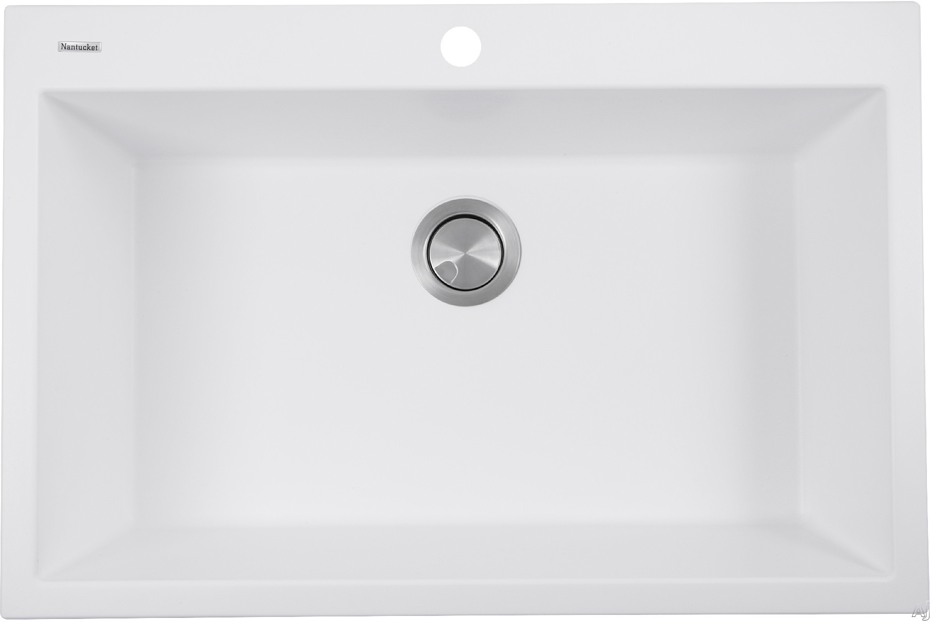 Nantucket Sinks Plymouth Collection PR3322DMW 33 Inch Dual Mount Granite Composite Kitchen Sink with Dual Mount Design, Heat Resistant and Scratch Resistant: Matte White