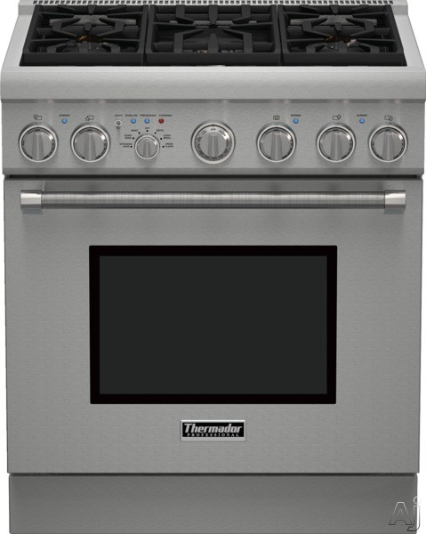 Thermador Pro Harmony Professional Series PRD305PH 30 Inch Pro-Style Dual Fuel Range with 5 Sealed Star Burners, 4.4 cu. ft. Convection Oven, ExtraLow Simmer Burners, 1 Telescopic Rack, 2 Standard Rac