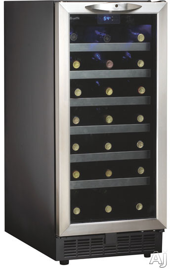 "Danby Silhouette Series DWC1534BLS 15"" Built-in Wine Cooler with 34-Bottle Capacity, 6 Stainless, U.S. & Canada DWC1534BLS"