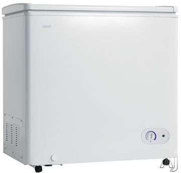 Danby DCF550W1 5.5 cu. ft. Chest Freezer with Manual Defrost, Vinyl Coated Basket, Up-Front, U.S. & Canada DCF550W1