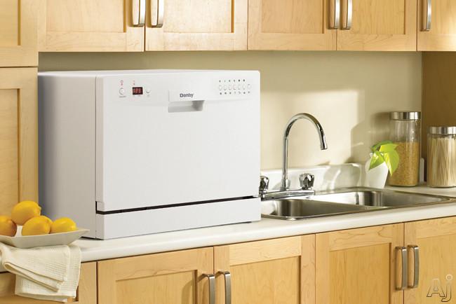 Countertop Dishwasher Ontario : Danby DDW611WLED Full Console Countertop Dishwasher with 6-Place ...