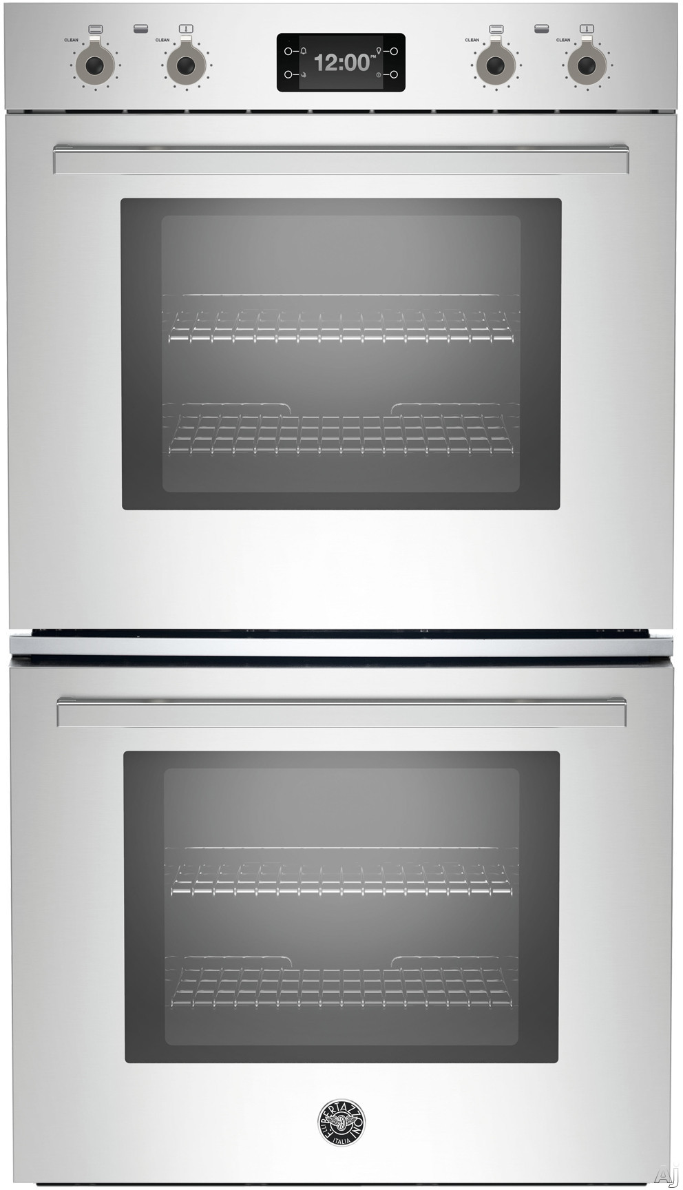 Bertazzoni Professional Series PROFD30XT 30 Inch Double Electric Wall Oven with 8.2 cu. ft. Total Capacity, Dual Diagonal Convection, Self-Cleaning, LCD Touch Interface and 33 Preset Cooking Sequences PROFD30XT