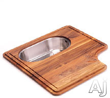 Franke Professional Series PS1945SP Solid Wood Cutting Board with Polished Stainless Colander