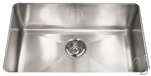 Franke Professional Series PSX1102710 29 Inch Undermount Single Bowl Stainless Steel Sink with Polished Finish, 10 Inch Bowl Depth and 16-Gauge Stainless Steel