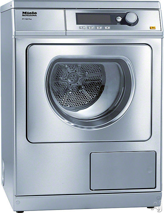 Miele Professional PT7138 24 Inch Commercial Electric Dryer with 15 lb. Capacity, 15 Dry Programs, 4 Temperature Settings, 1,400 RPM, Sanitize Cycle, Wrinkle Free Cycle, PerfectDry Electronic Moisture Monitoring, 24-Hour Delay Start and Honeycomb Drum wit