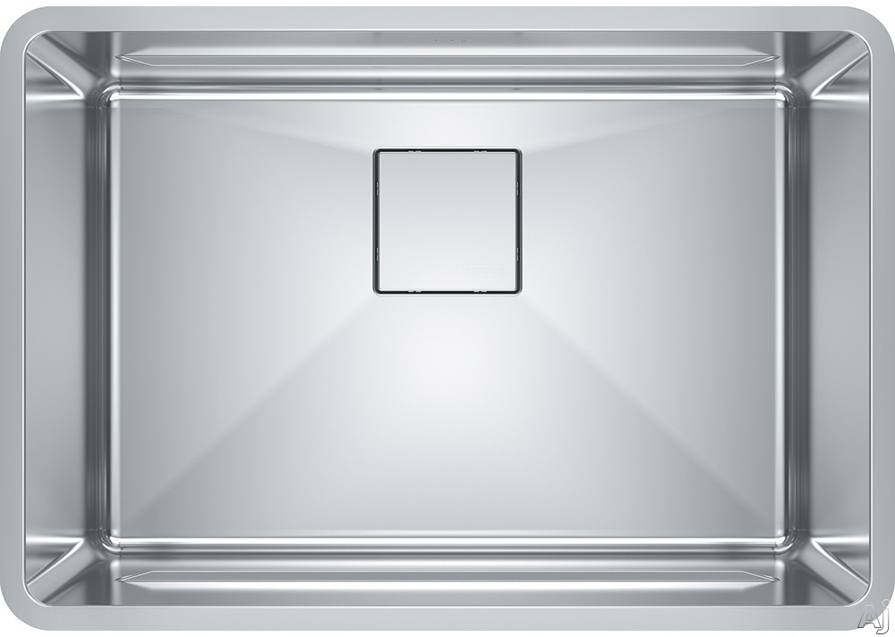 Image of Franke Pescara Series PTX11025 26 Inch Stainless Steel Undermount Kitchen Sink with Integral Ledge System, 18 Gauge Stainless Steel and Sound Dampening